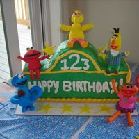 Sesame Street Birthday Cake  A Sesame Street bday cake I did for my daughter's 2nd birthday this past weekend. I really had alot of fun making the characters. If...