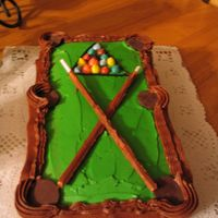 Pool Tournament Cake I made this for a co-worker's pool tournament