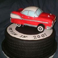 "Chevy Fair Cake I made this cake (dummy) for our county fair. It is covered completely in fondant. The theme was ""Revin Your Engines In 2007"". I..."