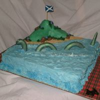 Loch Ness Monster The customer requested a cake for some friends that were visiting from Scotland. They thought something with Nessie on it and this is what...