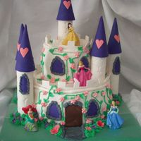 Princess Castle Fondant covered WASC cake with strawberry filling.