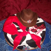 Cowboy Cake This was my first cowboy hat. This cake was alot of fun to make!! It's WASC with strawberry cream filling.