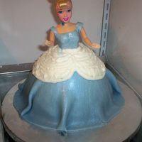 Cinderella's Got Some Problems! Especially her weight! Dang doll arms got in my way too....this was my first doll cake. But I think our niece will love it. As I took a...