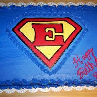 Superemma This is a FBCT for a little girl who wanted a Super Heroes birthday cake. I hope she likes it.