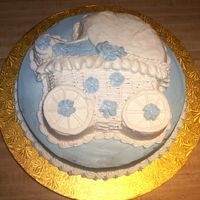 Rachel's Baby Shower Cake Not my best work...by any stretch...It took 3 hours to even get it to look like this. But hopefully it will taste good!