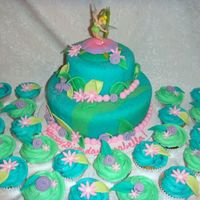 Tink Marble fondant of teal and kelly green using wilton's impression mats. Fun and easy to do.