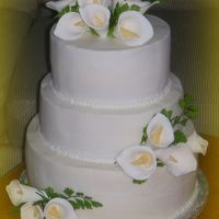 Calla Lily Wedding Cake calla lillies wedding cake. made with gumpaste