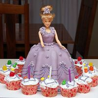 Purple Princess This is a birthday cake for my daughter (pre-cc) and my first attempt at mmf, royal icing drop flowers, and string work. The whole project...