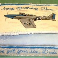 Wwii P51D Mustang Fbct I don't seem to try anything easy for my first attempts...lol. This is the cake for my Sweetheart. It was his birthday, and a surprise...