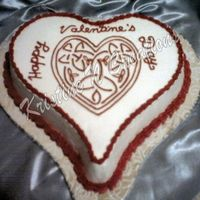 My First Official Valentine's Day Cake Since Starting Wilton Classes :d Chocolate fudge with buttercream icing
