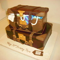 Suitcase Cake Suitcase cake for an adult birthday - found a tutorial on how to make this cake - didn't follow the same techniques of using non-...