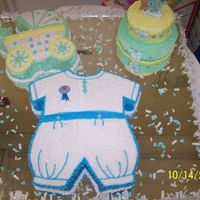 Big Cake For A Baby Shower!!   This was for my Sis