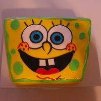 Spongebob Cake I made this for my son's 2nd birthday. He is a huge Spongebob fan. This was the first time I got to use my airbrush. I used it for the...