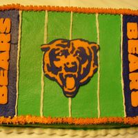 Chicago Bears Football Another Bears cake. Too tired to put the field goals on!