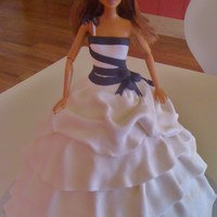 High Fashion Barbie  Vera Wang inspired dress. All fondant. Made for a 40th birthday. Nice to have the opportunity to do one of these not pink! :). I really...