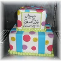 Neon Rave Cake Client wanted super bright colors, iced in buttercream with fondant accents. The plaque is gumpaste and then I wrote with an edible marker...