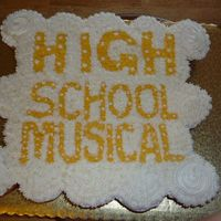 High School Musical Cupcake Cake