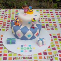 Rosa's Birthday  The idea for this cake was taken from one of the many Dora cakes in CakeCentral.Thank's for all the amazing cakes in this site. Keep...