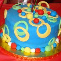 Mickey Mouse Clubhouse Colors Cake  My son had a Mickey Mouse Clubhouse party, but I ran out of time to make a mickey mouse....so I just used the colors and make some silly...