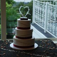 Rebecca Wedding Cake Wow! Can we say last minute? I didn't get the payment and contract for this cake until the Thursday before the Saturday wedding. Not...
