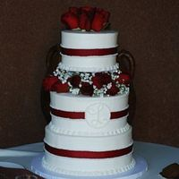Rebecca & Brian's Wedding Cake I thought this was a very elegant design. In the future I would want to work harder to make sure the ribbons were very straight because it...