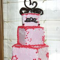 Swimming Swan Sweetheart Three tiered Pink cake