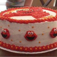 Elmo!   Side view w/store bought candy Elmo pieces