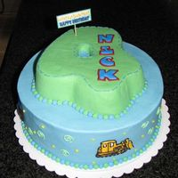 4Th Birthday Birthday cake for my sons 4th birthday. Everything BC with royal icing accents.