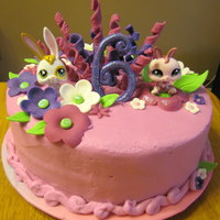 Littlest Pet Shop  Last minute request. Little girl loves bunnies, flowers, and pink. Hate to say it but I kind of through this one together. She loved it...