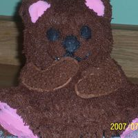 Teddy Bear  Another practice cake ,this was sooo much fun to do ,It is the wilton cuddly bear cake panI used the directions tat were provided in the...