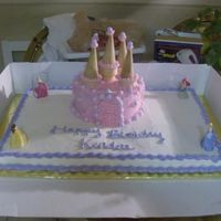 Princess Castle Cake I made this for a friend at works neice. She wanted something with Disney Princess so this is what we thought up! It was a lot of fun to...