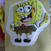 Spongebob Squarepants I made this cake for my daughter's 2nd Birthday party. I used the Wilton cake pan it was fairly simple to do it just took some time.