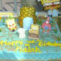 Spongebob Under The Sea This cake came out so cute and I think it was the simplest cake Ive ever done. I used a real pineapple, I cute a hole in the bottom and...