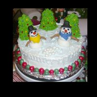 Winter Wonderland I was just in the mood to make a Christmas cake and this is what I came up with! The snowmen are made out of fondant and the rest of the...