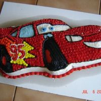 Lightning Mcqeen.   I made this cake for my nephews 5th birthday. It is my 3rd cake