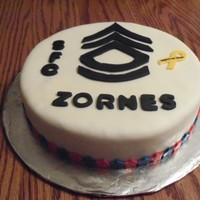 Military Promotion This was a cake I did for a guy in my husbands unit that got promoted to a SFC.