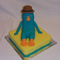 Agent P I made this cake for my husband.
