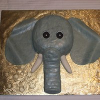 Elephant I made this cake for my daughters 13th birthday.