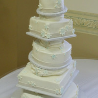 Topsey Turvey Snowflake Wedding Cake