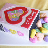 Conversation Heart Box Jenny and I did this cake for a 1st Birthday. Hearts are made from RKT.