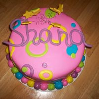Shana's Sweet 16 Vanilla cake with strawberry filling, covered in marshmallow fondant. (MMF) Buttercream icing used underneath the fondant. Shana's...
