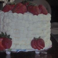 Mil's Strawberry Shortcake   This is the cake I made for my very ungrateful MIL, lol. Vanilla cake with strawberry mousse filling and whipped cream icing.