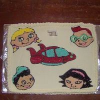 Little Einsteins Cake This was the cake I made for my son's first birthday. Chocolate cake and buttercream icing. This cake was so much fun to make, but my...