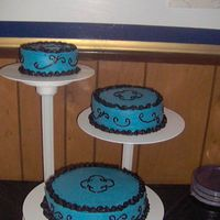 The Other Birthday Cake  My husband and I turned 30 on the same day, and this was the second cake I made for our party (the first was the NJ Devils cake). Our color...