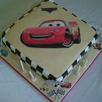 Lightning Mcqueen Cake another mcqueen cake...edible image