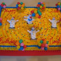 Circus Clown Birthday Cake