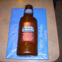 Justin's Bud Light Marble cake covered in mmf