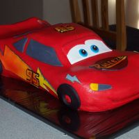 Lightning Mcqueen MMF. I put too much Crisco in the red and smudged the black everywhere. But all in all, my son loved it!