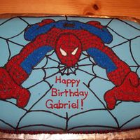 Spiderman This is my first shot at fondant. It was easier to use than I thought. The picture I got from one of my son's sweatshirts.
