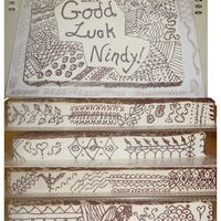 Nindy's Henna Design Going Away Cake This cake was for a co-worker who is Indian for her last day. These are henna inspired designs. I downloaded a free book off of the...